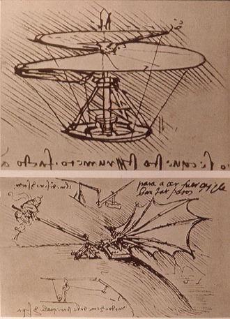 Ornithopter - Leonardo da Vinci's ornithopter design