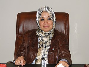 Women in Libya - Salwa El-Deghali, a Libyan lawyer and member of the National Transitional Council