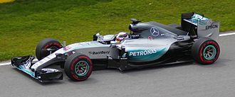 Motorsport - A modern-day Formula One car (the Mercedes F1 W06 Hybrid of 2015)