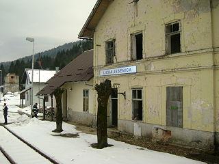 Lička Jesenica Village in Continental Croatia, Croatia