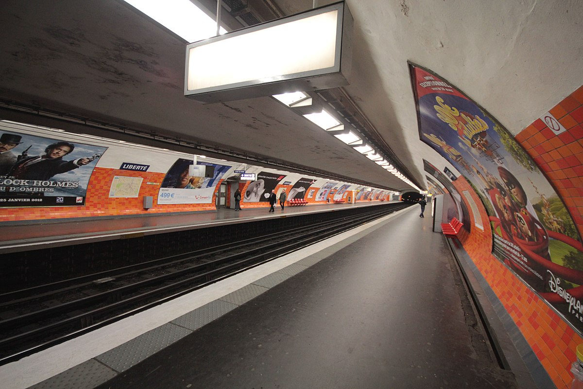 Libert paris m tro wikipedia - Porte de charenton metro ...