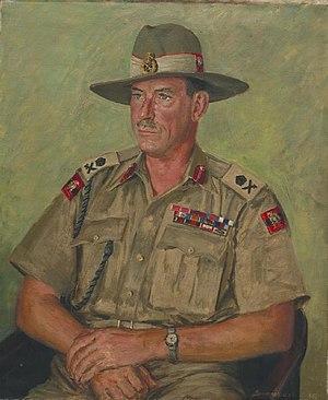 Montagu Stopford - A half-length, seated portrait of Lieutenant-General Sir Montagu Stopford in uniform.