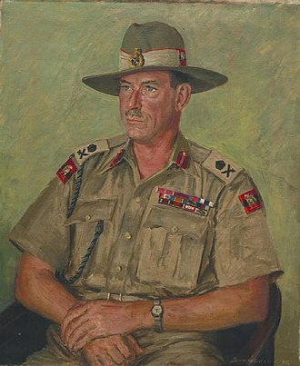 Montagu Stopford - A half-length, seated portrait of Lieutenant-General Sir Montagu Stopford in uniform.