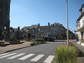 The town centre of Liffré