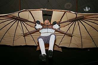 Otto Lilienthal - Restored 1894 glider displayed at the National Air and Space Museum. It is one of five surviving Lilienthal gliders in the world.