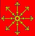 Liliomos küllő (heraldika) fr -- escarboucle fleurdelisée.PNG