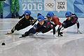 Lillehammer 2016 - Short track 1000m - Men Semifinals - Daeheon Hwang, Shaoang Liu, Kazuki Yoshinaga and Kyunghwan Hong 3.jpg