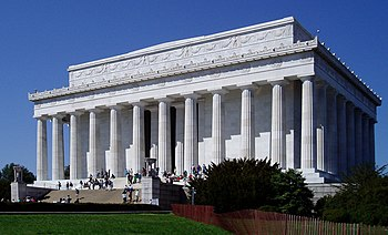 English: The Lincoln Memorial is a national me...