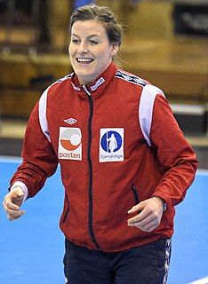 Linn-Kristin Riegelhuth Koren Norwegian handball player