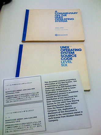 Version 6 Unix - John Lions' original books, source code and commentary