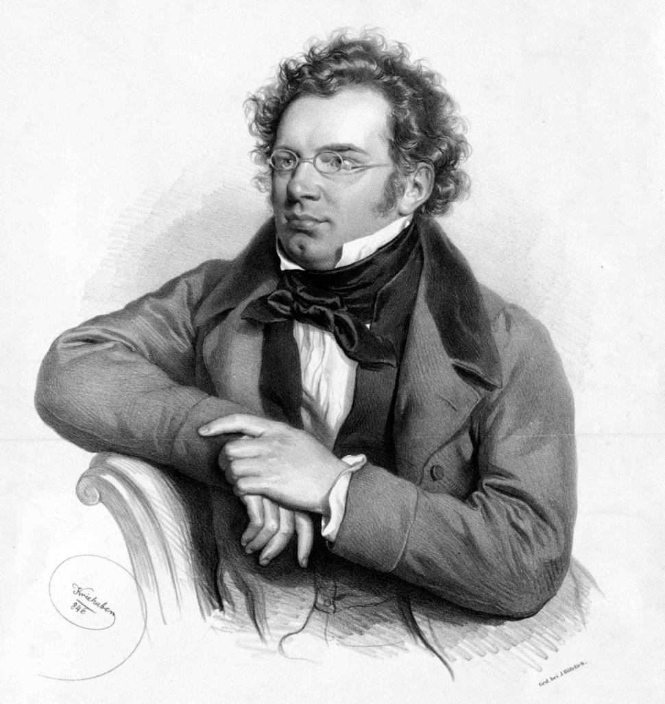 Litograph of Franz Schubert by Josef Kriehuber (1846)
