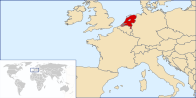 A map showing the location of Netherlands