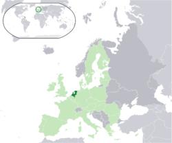 オランダの位置