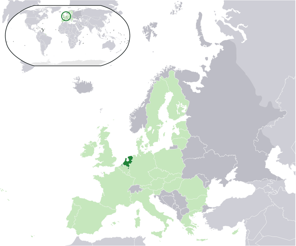 Location of the Netherlands