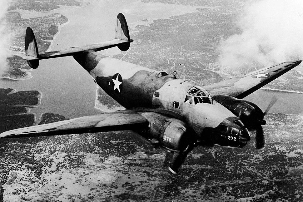 Lockheed B-34 USAAF in flight