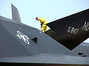Lockheed F-117NighthawkV-tail