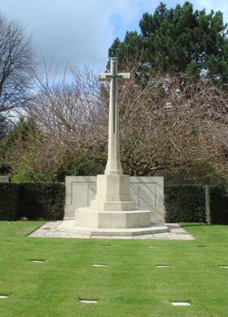 Lodge Hill Cemetery - Cross of Sacrifice in the First World War section