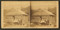 Log school house, teacher and scholars, Underhill, Vt., near Mansfield Mt, by T. G. Richardson.png