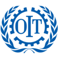 Logo officiel de l'Organisation Internationale de Travail.png