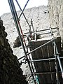 Looking up past the scaffolding at The Keep within Portchester Castle - geograph.org.uk - 1085792.jpg