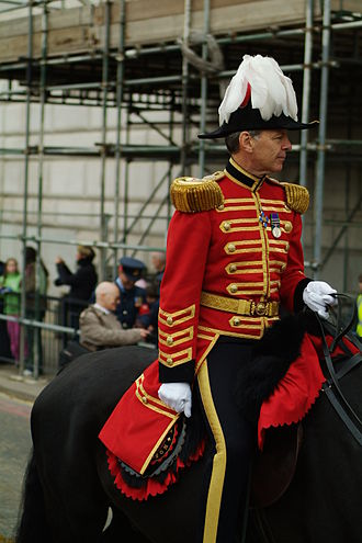 Marshal - City Marshal of the City of London, on duty at the Lord Mayor's Show.