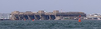 Battle of the Atlantic - The German submarine base in Lorient, Brittany