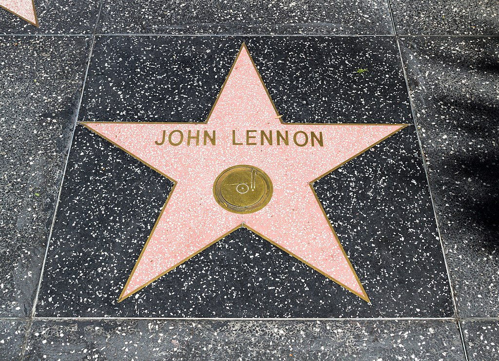 file los angeles  california  usa   hollywood boulevard  john lennon -- 2012