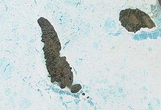 Lougheed Island - Lougheed Island and King Christian Island. Satellite image created by the MODIS Rapid Response System, NASA/GSFC
