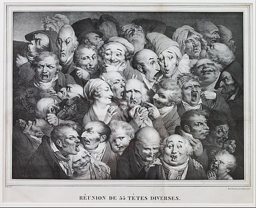 Louis Léopold Boilly - Group of Thirty-Five Heads - Google Art Project