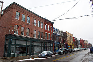 Lawrenceville (Pittsburgh) - Shops and professional offices along Butler Street.