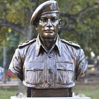 Ardeshir Tarapore - Tarapore's statue at Param Yodha Sthal, National War Memorial, New Delhi