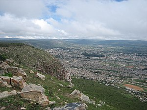 Lubango - View of Lubango from a hill around the city