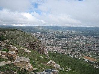 Lubango - View of Lubango from a hill around the city