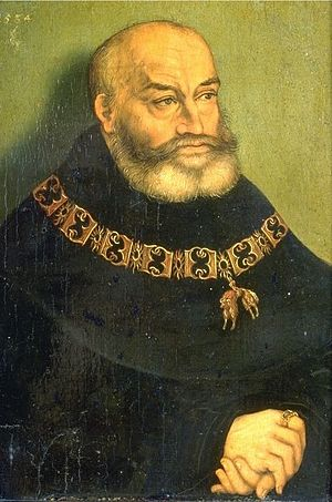 George, Duke of Saxony - Portrait by Lucas Cranach the Elder