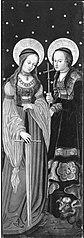 Altarflügel: Hll. Katharina und Magaretha (Anonymer Meister seiner Werkstatt)