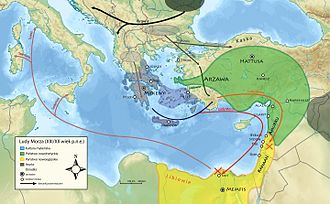 Sherden - Theorized Sea Peoples migrations from the East