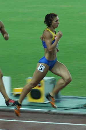 Lyudmyla Blonska - Blonska at the 2007 World Championships