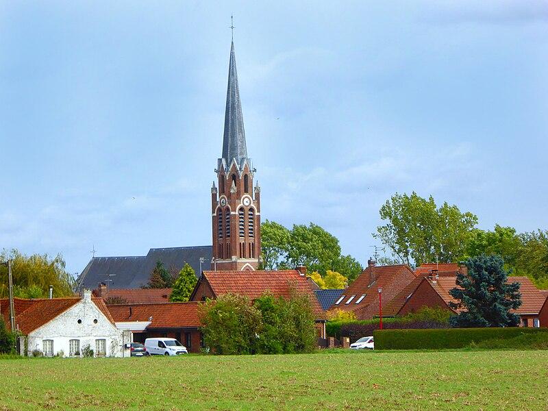 L'église Sant-Amand de  Mérignies  Nord Hauts-de-France