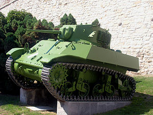 An M3A3 preserved in the Belgrade Military Museum. Large provisions of Soviet M3s were also used by the Yugoslavian partisans and liberation army. The M3A3 was based on the M5 version, with a new sloped armor hull.