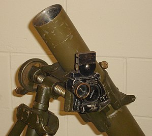 M2 mortar - M4 Collimator sight, used for both indirect fire and direct lay missions.