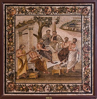 History of logic - Plato's Academy mosaic