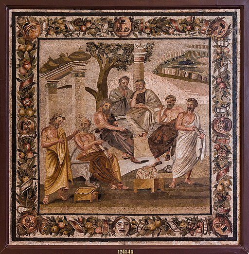 MANNapoli 124545 plato's academy mosaic
