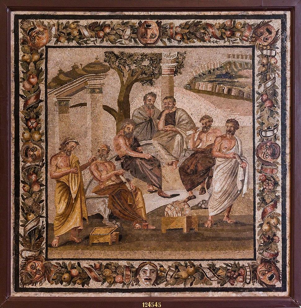 MANNapoli 124545 plato%27s academy mosaic