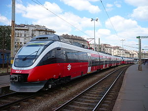 Hungarian State Railways - An MAV Bombardier Talent waiting in Déli pályaudvar