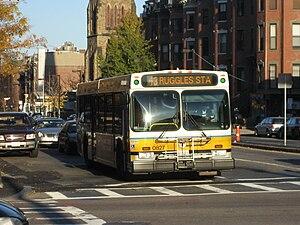 43 (MBTA bus) - MBTA bus on route 43 heading towards Ruggles station.