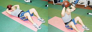 Medicine ball - Image: MEDICINE BALL EXERCISES FOR MEN 1