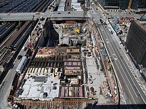 55 Hudson Yards - Site of 55 Hudson Yards, under excavation in 2012