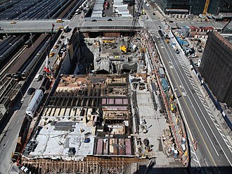 55 Hudson Yards - Site of 55 Hudson Yards, under excavation in 2012