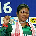 MWMP Kumari (Sri Lanka) won the silver in 55kg female wrestling at 12th South Asian Games-2016, in Dispur, Guwahati on February 06, 2016 (cropped).jpg