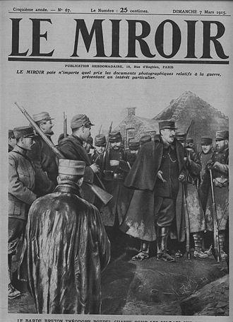 Théodore Botrel - Botrel performing to troops in 1915